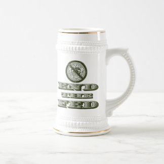 End the Fed Federal Reserve Libertarian 18 Oz Beer Stein