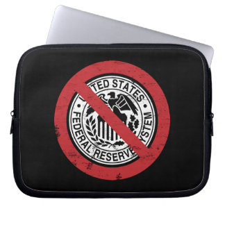 End the Fed Federal Reserve Libertarian Laptop Sleeve