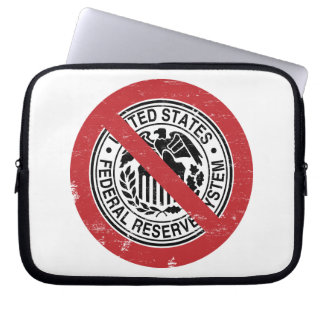 End the Fed Federal Reserve Libertarian Laptop Sleeves