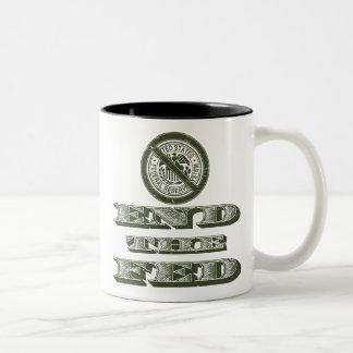 End the Fed Federal Reserve Libertarian Two-Tone Coffee Mug