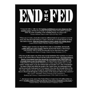 END THE FED Federal Reserve Quotes & Citations 1 Art Photo