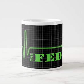 End the Fed Flatlined Large Coffee Mug
