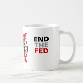 END THE FED - Mug - colour - with FED Logo