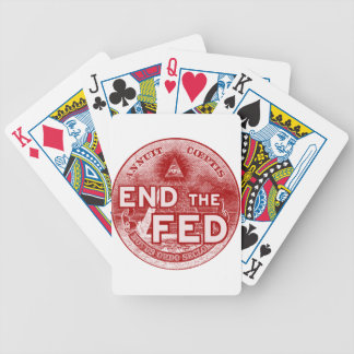 END THE FED - occupy nwo banksters anonymous Poker Cards