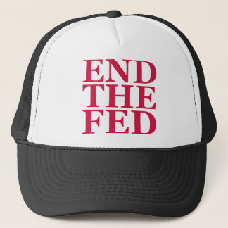 End the Fed - Red Trucker Hat