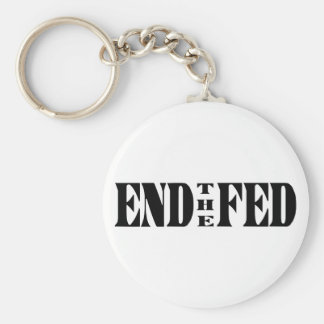 END THE FED Ron Paul for President Keychain
