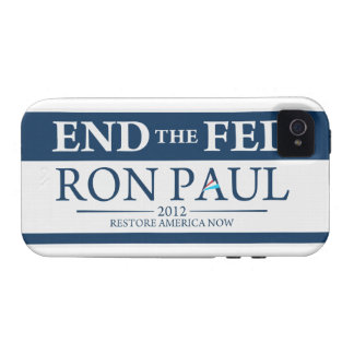 End The Fed Vote Ron Paul in 2012 Restore America iPhone 4 Case