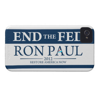End The Fed Vote Ron Paul in 2012 Restore America iPhone 4 Cover