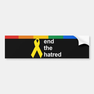 end the hatred bumper sticker