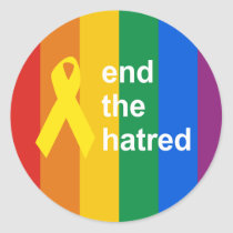 end the hatred classic round sticker