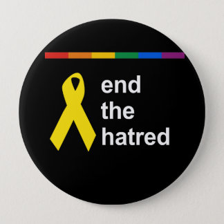 end the hatred pinback button
