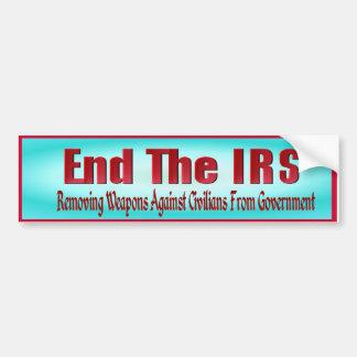 END THE IRS BUMPER STICKER