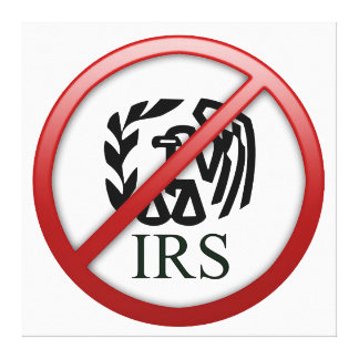 End the IRS Internal Revenue Service Taxes Canvas Print