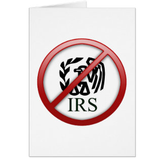 End the IRS Internal Revenue Service Taxes Card