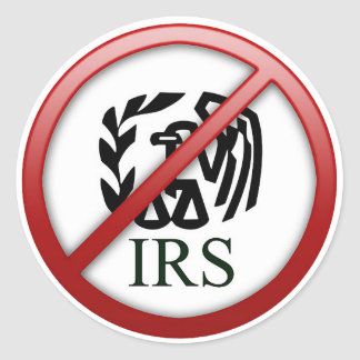End the IRS Internal Revenue Service Taxes Classic Round Sticker