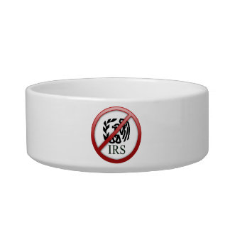 End the IRS Internal Revenue Service Taxes Cat Water Bowl