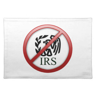 End the IRS Internal Revenue Service Taxes Placemat
