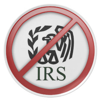End the IRS Internal Revenue Service Taxes Party Plates