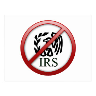 End the IRS Internal Revenue Service Taxes Postcard