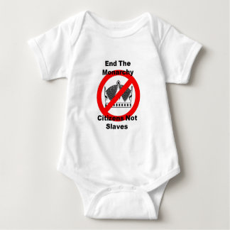 End The Monarchy - Citizens Not Slaves Baby Bodysuit
