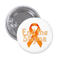 End the Stigma - Mental Health Awareness Button