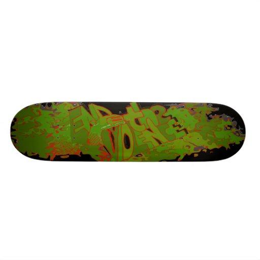 End the Violence Skateboard