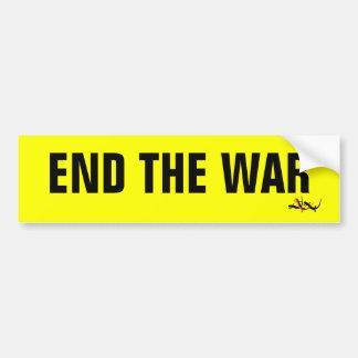 End the War Bumper Sticker Car Bumper Sticker