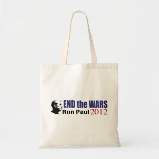 End the Wars Ron Paul For President 2012 Tote Bags
