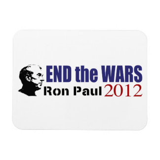 End the Wars Ron Paul For President 2012 Rectangular Photo Magnet