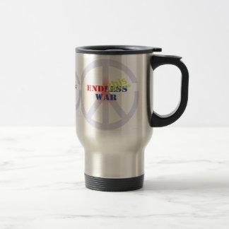 End this endless war travel mug