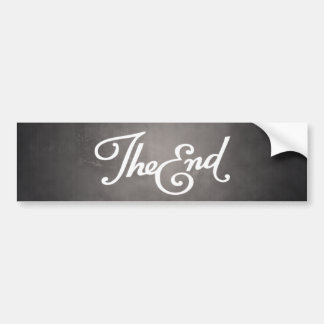 End Title Card bumper sticker