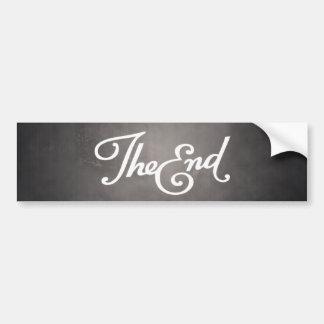 End Title Card bumper sticker