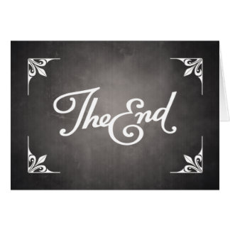 End Title Card greeting card