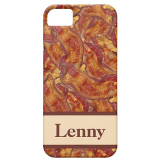 End-to-End Bacon (with name) iPhone Case