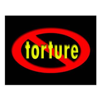 End Torture Oval Postcard