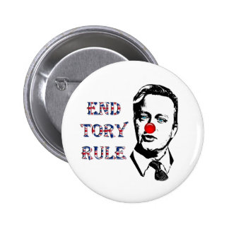 End Tory Rule David Cameron Badge Pinback Button