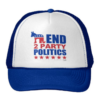 End Two Party Politics Trucker Hat