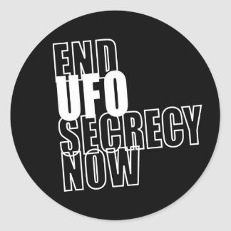 End UFO Secrecy Now - Stickers