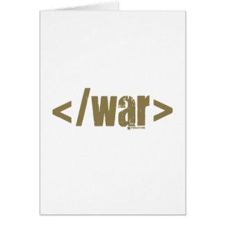 End War Card