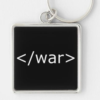End War html - Black & White Keychain