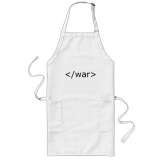 End War html - Black & White Long Apron