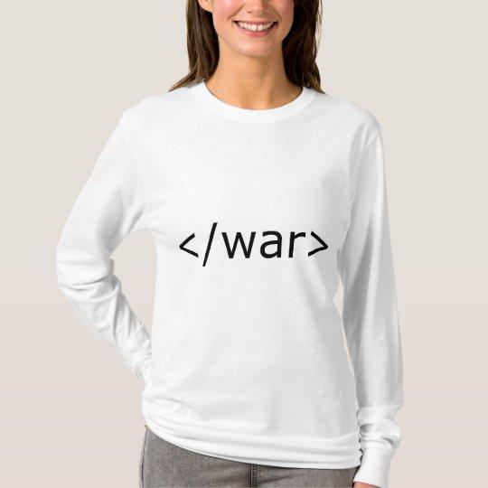 End War html - Black & White T-Shirt