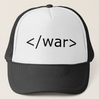 End War html - Black & White Trucker Hat