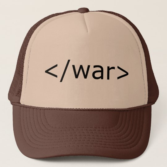 End War html - Black & White Trucker Hat