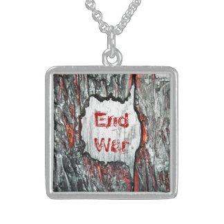 End War Sterling Silver Necklace