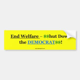 End Welfare Car Bumper Sticker