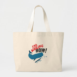 End Whaling Now Large Tote Bag