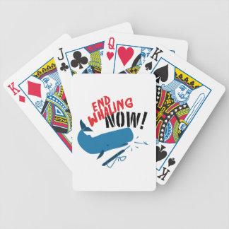 End Whaling Now Bicycle Playing Cards