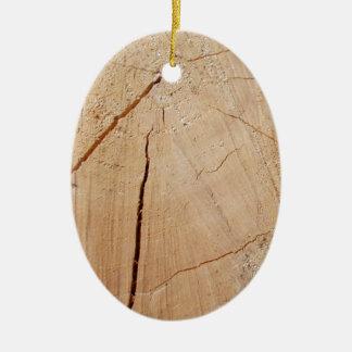 end wood ceramic ornament