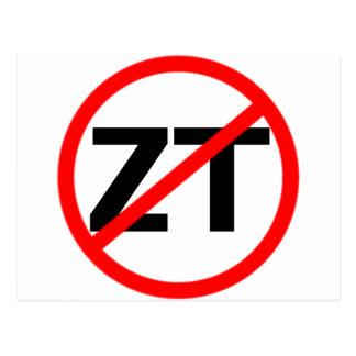 End Zero Tolerance Postcard